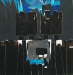 Zwart,blauw,grijs,wit: ideale collage-kleurcombinatie