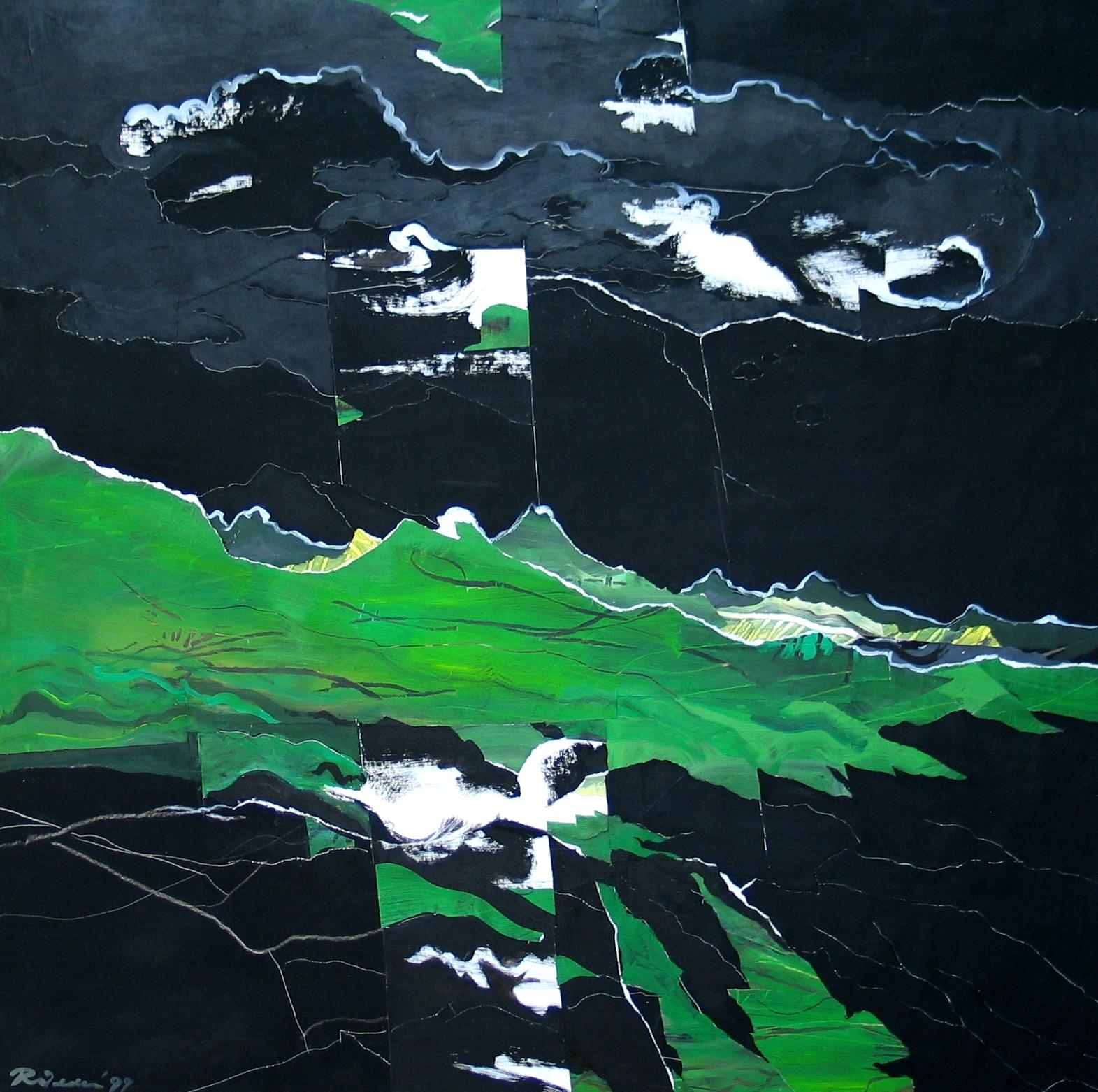Zwart atelier ridder for Paysage vert